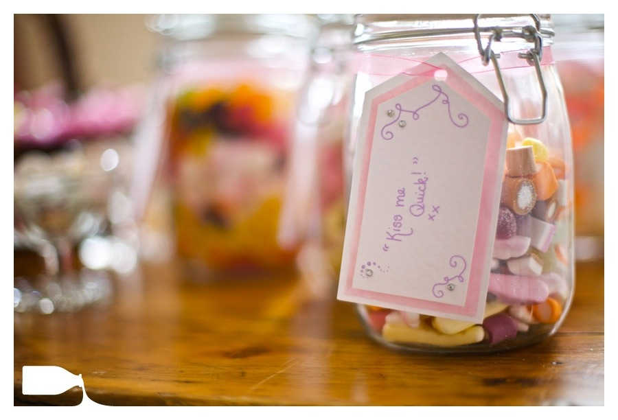 sweet jar on wedding day