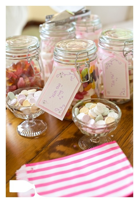 sweet jars on wedding day