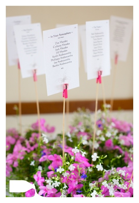 table names for wedding day
