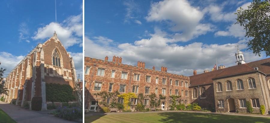 Queens College Cambridge wedding photographers